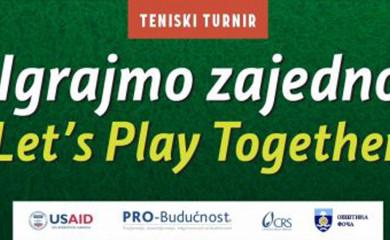 """U petak i subotu teniski turnir """"Igrajmo zajedno"""""""