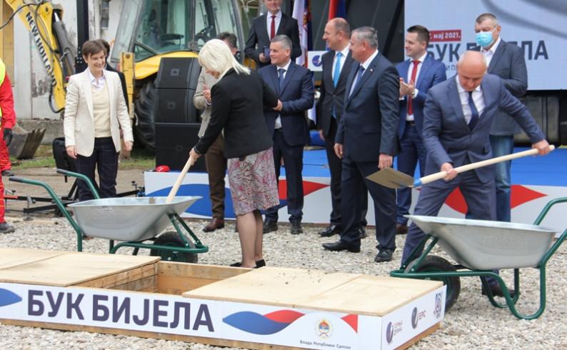 """Položen kamen temeljac za HE """"Buk Bijela"""": Novi početak u odnosima Srpske i Srbije"""