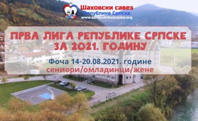 Raspis Prve lige Republike Srpske u šahu za 2021. godinu